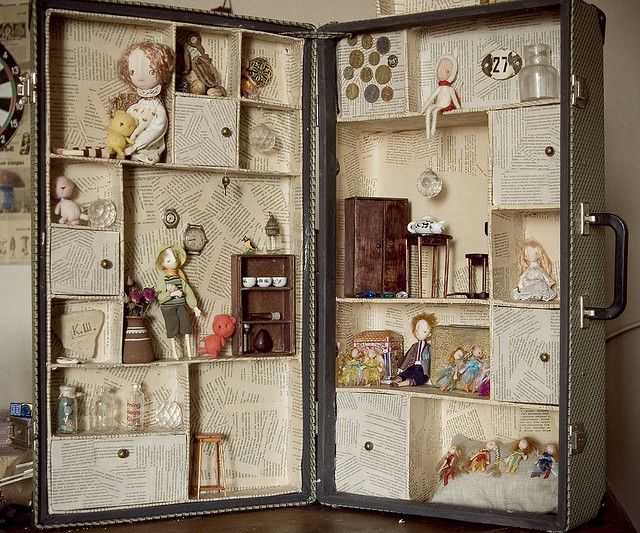 Doll house-maybe make it more like a doll house  and just super glue everything down so its easy to transfer anywhere