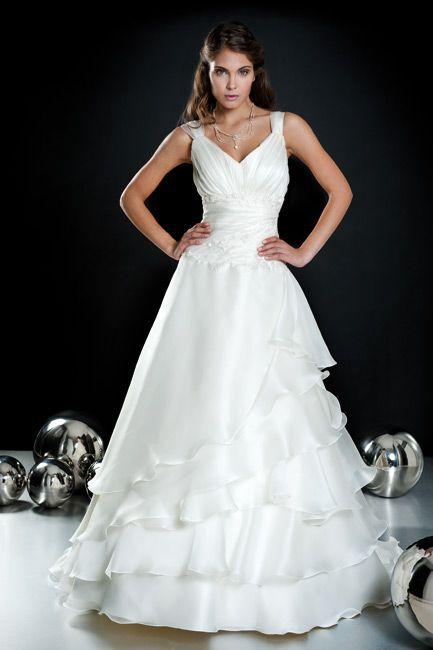 Abito sposa collezione minerva modello 012 organza for Wedding dresses made in italy