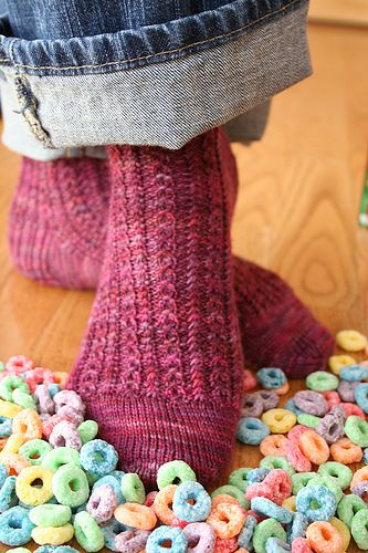 Froot Loops- very fun sock pattern, need to make another!