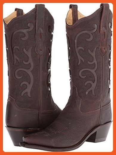 Old West Boots Women's LF1578 Brown Tumbled Boot - Boots for women (*Amazon Partner-Link)