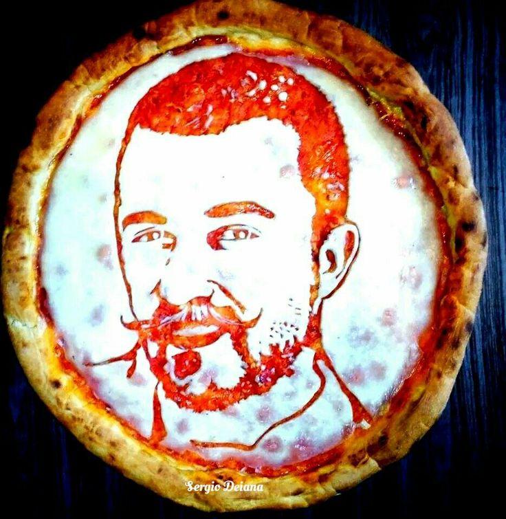 Chef Rubio pizza art by Sergio Deiana