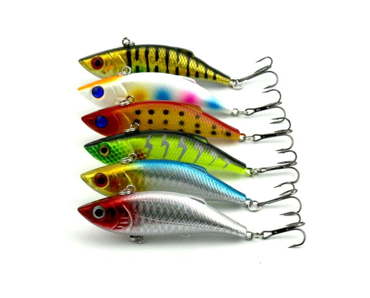 30pcs Fishing lures 8CM-11.8G-6# Hooks Vib wobbler pesca fish isca artificial hard bait fishing tackle peche