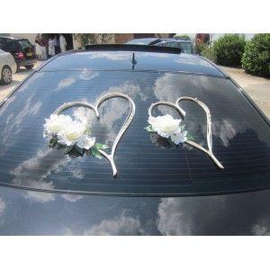 Coeurs de voiture mariage