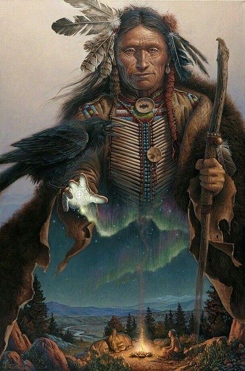 art, fantasy, and native american image