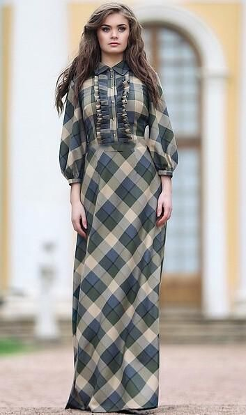 6560d5489ffd 2019 Maxi Plaid Dress 2015 Year Summer Style New Fashion Female 3/4 Sleeve  Red Green Long Floor Length Womens Plus Size Clothing From Allmaker02, ...