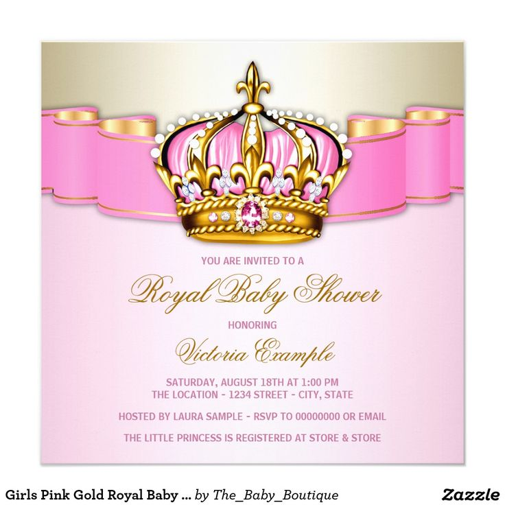 151 best Princess Baby Shower Invitations Ideas images on Pinterest ...