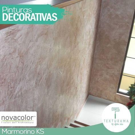 """Es un producto mineral con un alto contenido de polvo de mármol. Las texturas que se obtienen con Marmorino KS simulan una piedra natural. Entre los efectos están: ·Efecto """"Travertino Rústico"""" ·Efecto de """"Piedra Pulida"""" ·Efecto """"Cemento Pulido"""" ·Efecto """"Bloques de Piedra Natural"""" ·Efecto de """"Mármol""""  Este acabado puede ser complementado con Novacolor© Cera Decorativa: Bronze, Silver, Gold o Neutra…"""