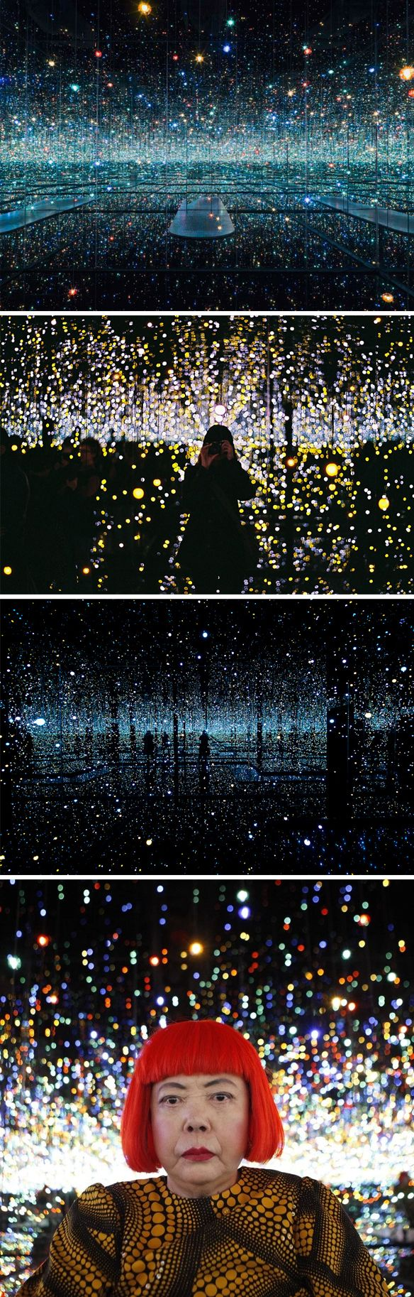 yayoi kusama at the broad museum, la                                                                                                                                                                                 More