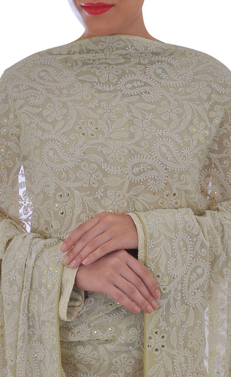 Multicolour Resham Chikankari Suit