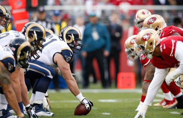 (adsbygoogle = window.adsbygoogle || ).push({});  San Francisco 49ers vs Los Angeles Rams American Football Live Stream  Live match information for : Los Angeles Rams San Francisco 49ers Week 3 Live Game Streaming on 21-Sep.  This NFL match up featuring San Francisco 49ers vs Los Angeles Rams is scheduled to commence at 01:25 UK (05:55 IST).   #Los Angeles Rams 2017 American Football Betting Online #Los Angeles Rams 2017 Highlights #Los Angeles Rams 2017 NFL #Los Angel