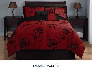 Burgundy Bed Set