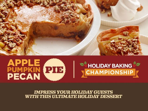 Learn how to make an apple-pumpkin-pecan pie inspired by Holiday Baking Championship on Sundays at 9|8c.