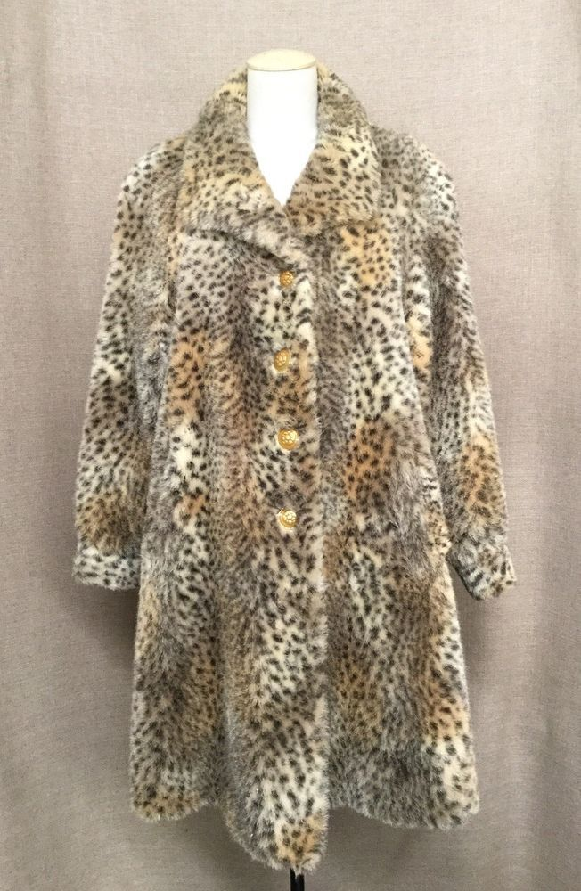 ecd08dce0050 ST JOHN COAT COLLECTION BY MARIE GRAY FAUX LEOPARD CHEETAH PRINT FUR COAT  SIZE 6 #fashion #clothing #shoes #accessories #womensclothing  #coatsjacketsvests ...