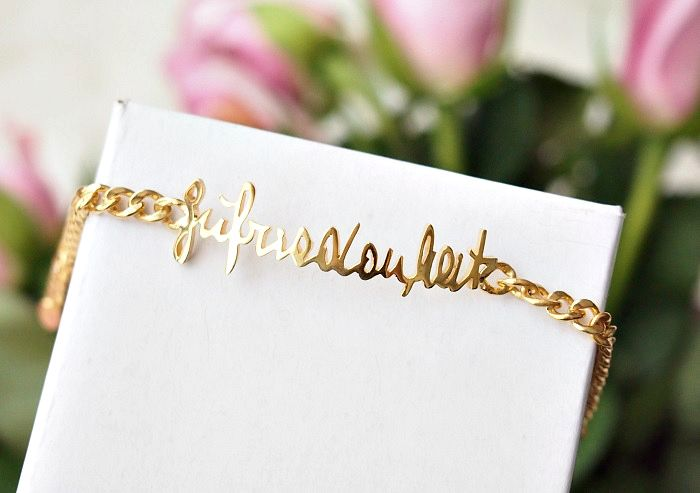 handwritten jewelry