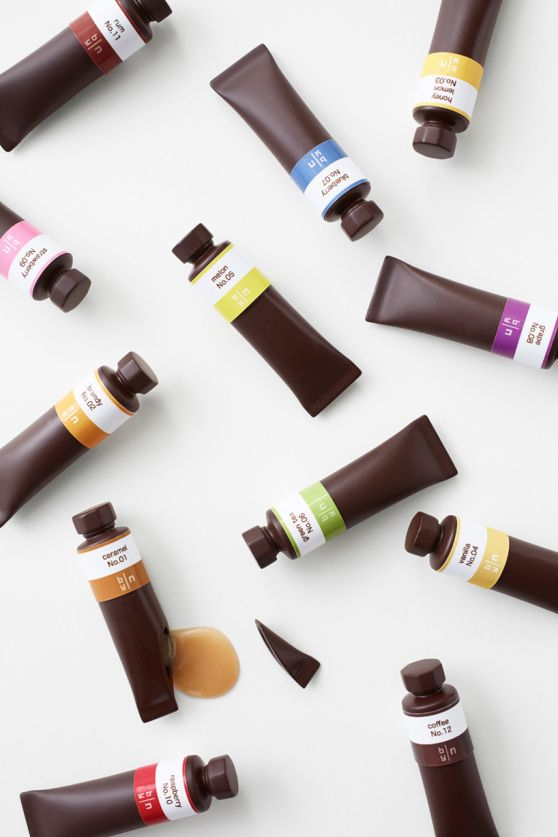 flavor-filled chocolate paint tubes bynendo
