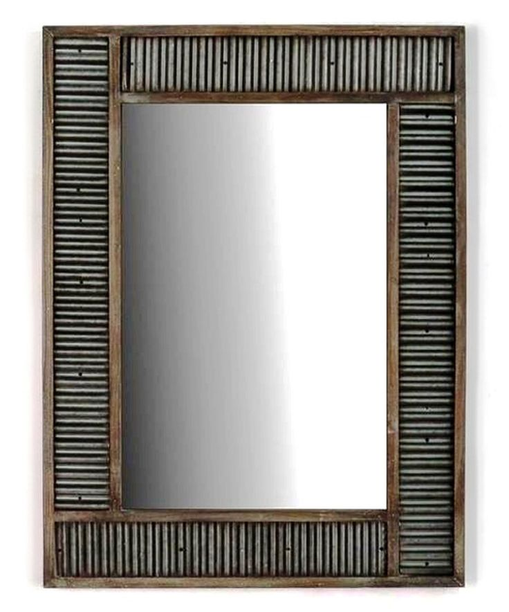 Look At This Corrugated Metal Mirror On Zulily Today Rustic Metal Decor Corrugated Metal Metal Decor