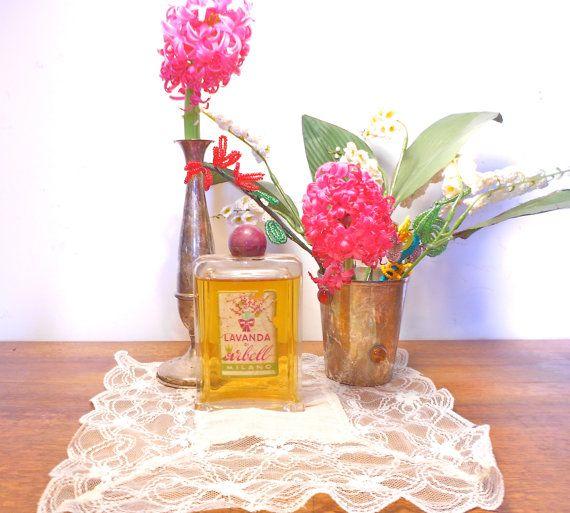 vintage antica bottiglia vetro profumo Lavanda.giallo di danycoty
