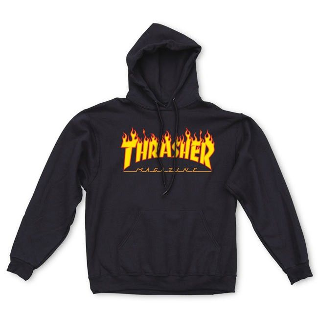 Thrasher Magazine Shop - Thrasher Flame Logo Hood