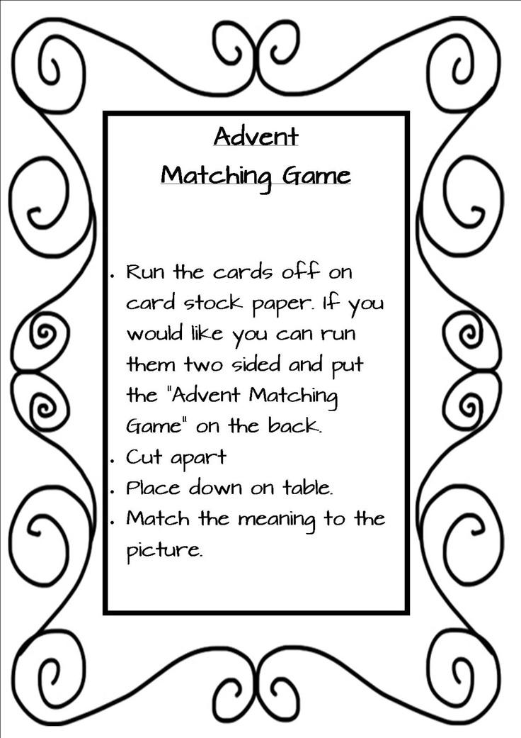 Advent Sunday School Lessons Crafts