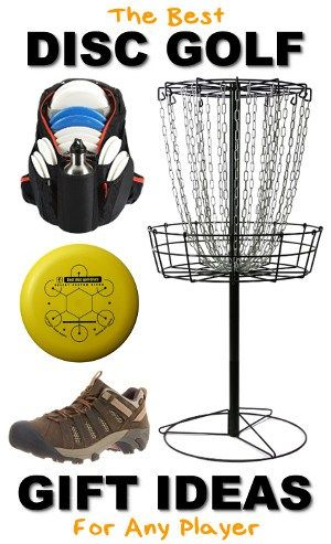 The complete guide to the best disc golf related gifts, including discs, home baskets, bags, and shoes!