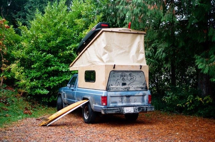 DIY pop up truck camper