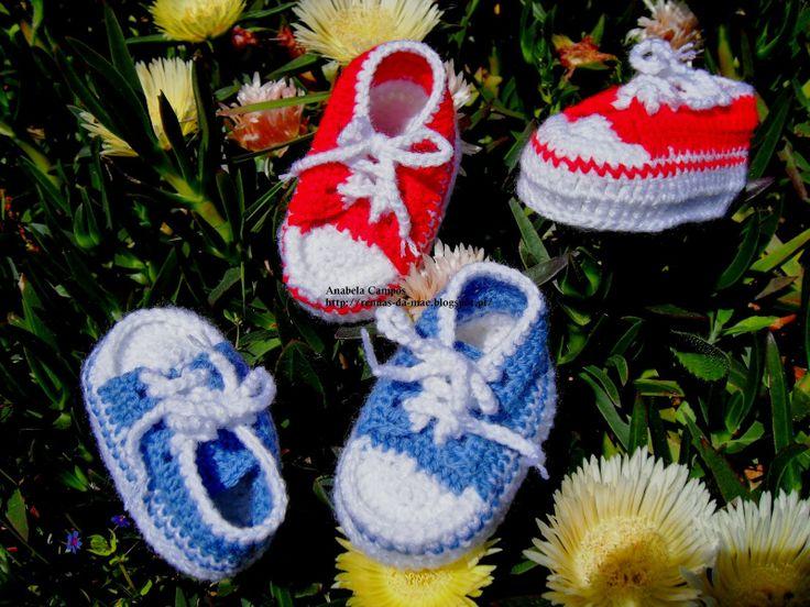 Rendas da Mãe: Ténis em lã para bébe