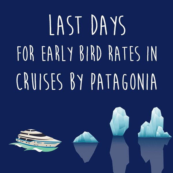 LAST DAYS OF EARLY BIRD to book your Patagonia cruise! Unique places, hidden treasures, wild nature, exciting experiences, premium service, what else can you ask for? Consult us and get more information> https://goo.gl/HVDozc