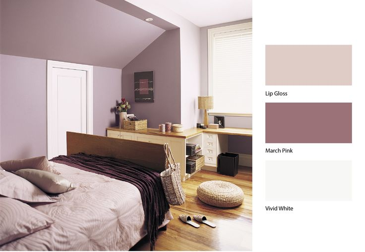 Dusty pinks can have a great calming effect on any room for Dulux paint ideas bedroom