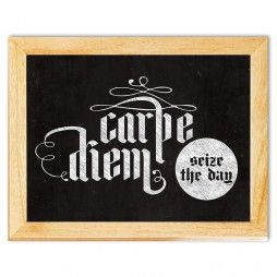 Carpe Diem Chalkboard Art Canvas Print