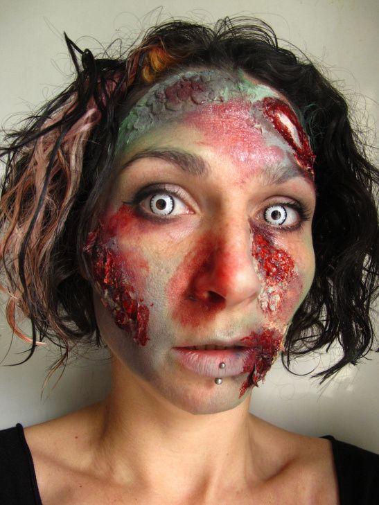 zombie face paint tutorial c alana dunlevy - Zombie Halloween Faces