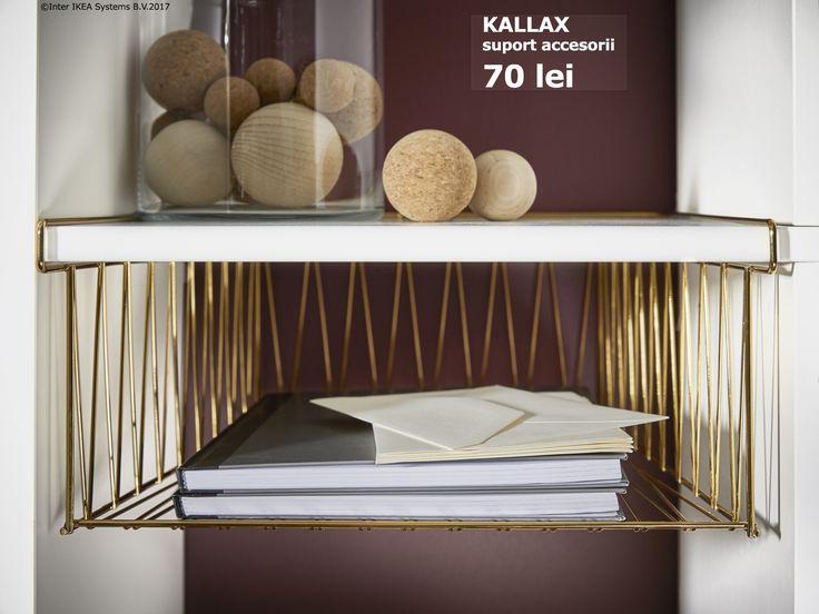 Etajera KALLAX primește un accesoriu nou, ca să ții mai ușor evidența documentelor importante.