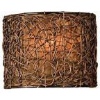 Knotted Rattan 1-Light Wall Sconce - Tropical - Wall Sconces - by Fratantoni Lifestyles