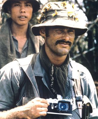 Sean Flynn, son of Errol Flynn. A photographer who went missing somewhere in Cambodia. ~ Vietnam War