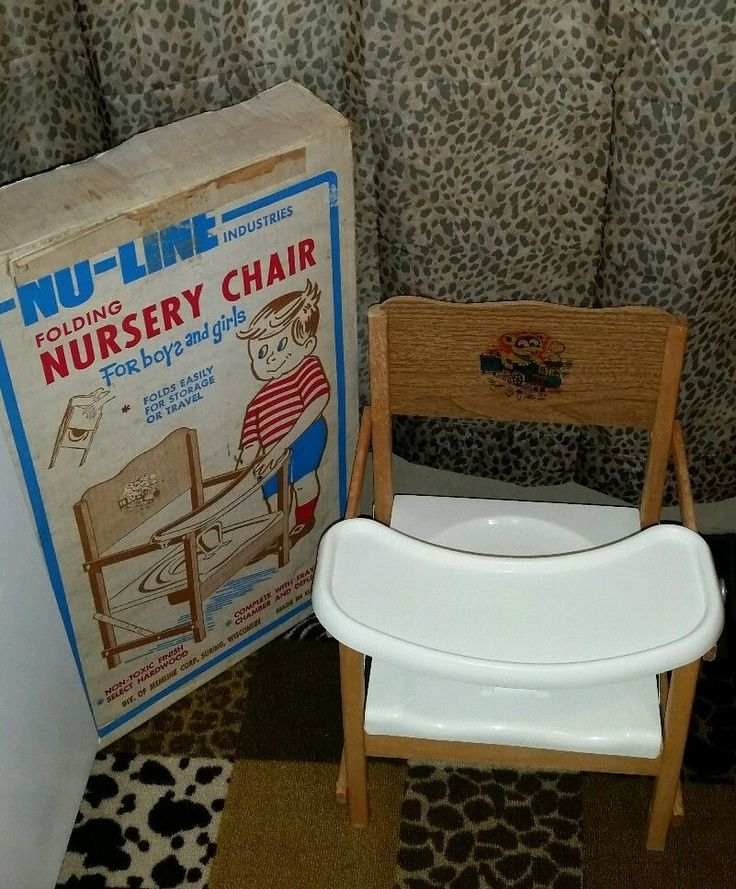 folding chair for child liquidation vintage nu-line industries portable nursery potty boys & girls | chamber pots ...