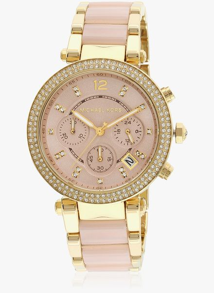 Michael Kors Parker Mk6326i Two Tone/Rose Gold Chronograph Watch   #MichaelKors     #RoseGold        #ChronographWatch