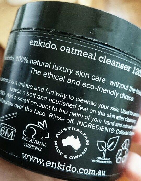 Enkido oatmeal cleanser