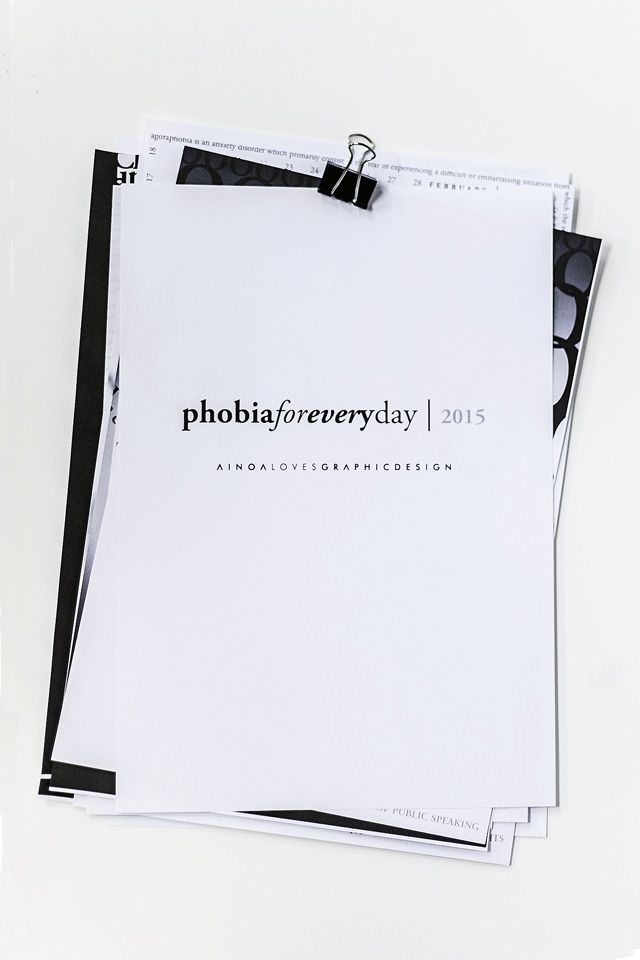 #phobiaforeveryday  Typographic wall calendar with a phobia for every month!
