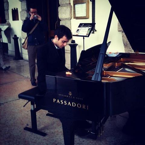 Pianoforte in piazza a Verona