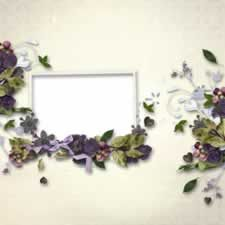 Flowers Ruffle Frame