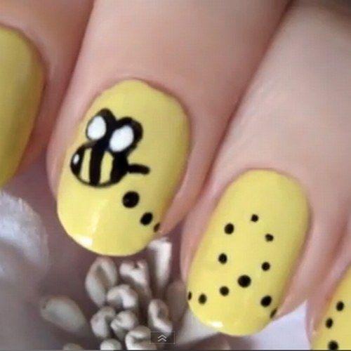 Funny Honey Bee Nail art