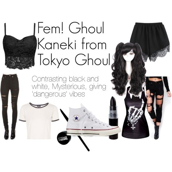 Ghoul Kaneki from Tokyo Ghoul by not-so-velvet on Polyvore