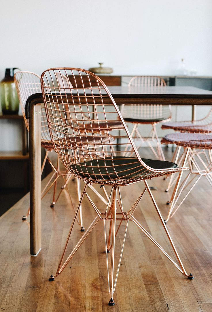 Modernica Copper Wire Chair with Eiffel Base | Photo Ann Kim of AndyHeart