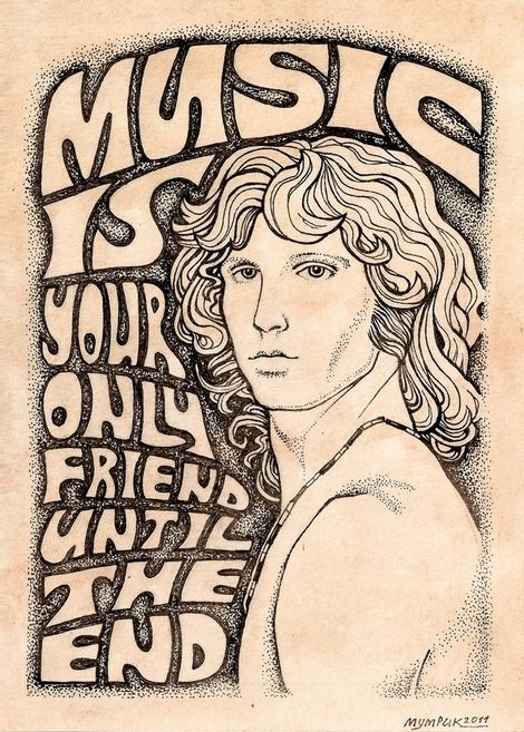"When the Music's Over.  The Doors 1967. While Jim left us - just barely out of his youth, he, with his band and in his poetry & other art, gave us magic that burns as bright today as it did decades ago...   As ""Rolling Stone"" said - with Jim on the cover (again) a few years back:  ""SEXY, HOT & DEAD""."