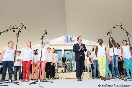 Fête de la Musique - Des élèves à l'Élysée !   #FDLM #fêtedelamusique #musique #elysée #académie #paris #ensemble #éducation