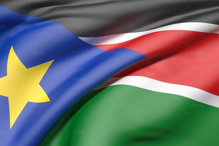 South Sudan flag by De todo un poco on @creativemarket