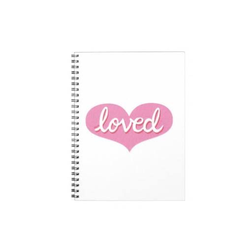 Notebook Pink heart design Available in a range of designs