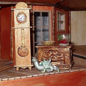 how to: 1/48th scale grandfather clock: Miniatures Diy, Scale Grandfather, Smaller Scale, Scale Minis, Miniature 1 48Th, Grandfather Clocks, Dollhouse Miniatures, Scale Miniatures