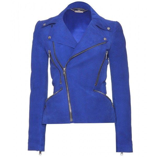 Alexander McQueen Leather Biker Jacket found on Polyvore