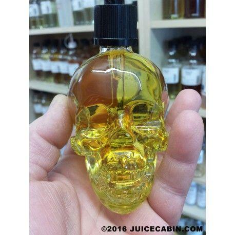 Human skull clear glass dropper bottles 120ml