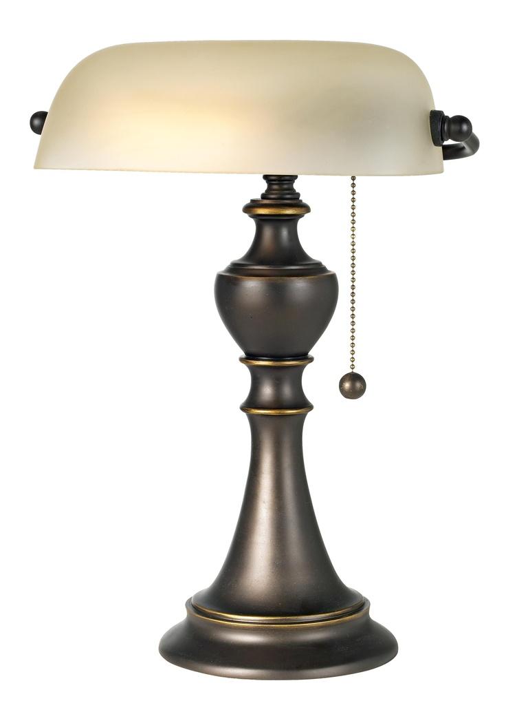 Alabaster Glass Piano Lamp -